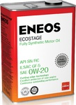 МОТОРНОЕ МАСЛО ENEOS ECOSTAGE SN 0W-20 4 ЛИТРА